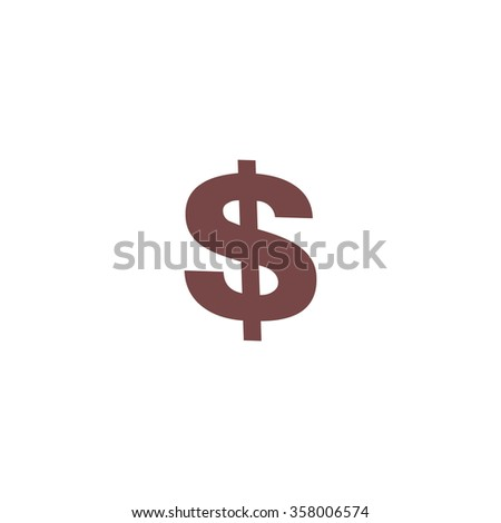 Dollar. Colorful vector icon. Simple retro color modern illustration pictogram. Collection concept symbol for infographic project and logo