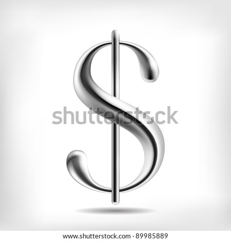 Dollar Currency Signs (High Detailed Mesh Objects) - stock vector