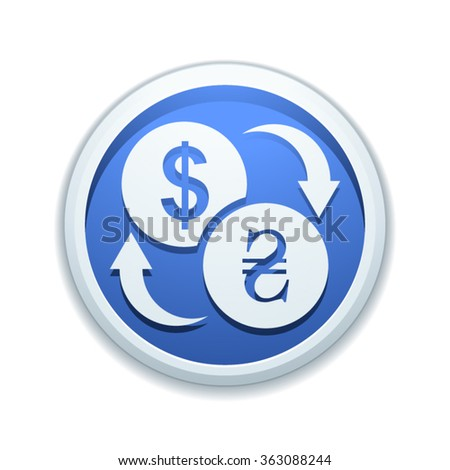 Dollar Hryvnia currency exchange - stock vector