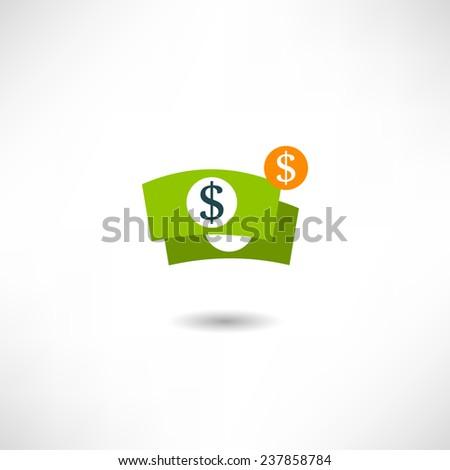Dollar icon - stock vector
