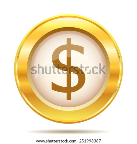Dollar icon. Internet button on white background. EPS10 vector.