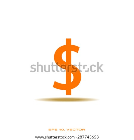 dollar icon isolated