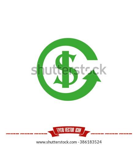 dollar icon vector - stock vector