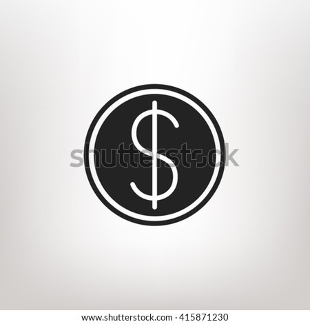 Dollar icon vector, dollar icon eps10, dollar icon picture, dollar icon flat, dollar icon, dollar web icon, dollar icon art, dollar icon drawing, dollar icon, dollar icon jpg, dollar icon object - stock vector
