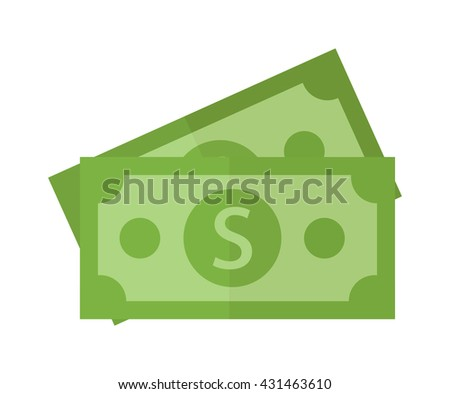 Dollar paper business finance money concept and dollar stack of bundles. Dollar stack US dollars business, banking edition banknotes bills isolated on white and dollar stack wealth finance sign. - stock vector