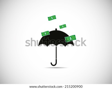 Dollar Rain Great Success - stock vector