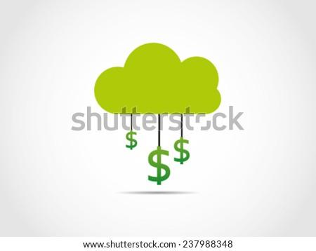 Dollar Service Cloud Computing - stock vector