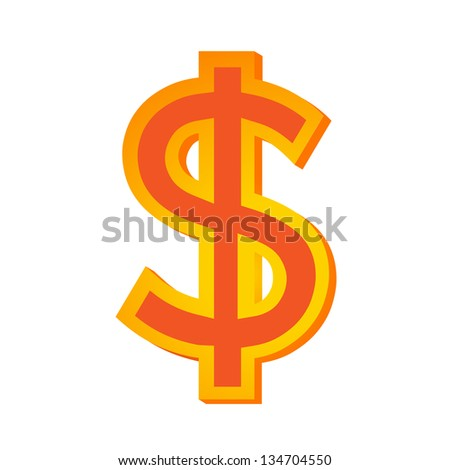 dollar sign - stock vector