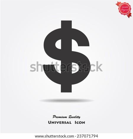 Dollar sign icon  - stock vector
