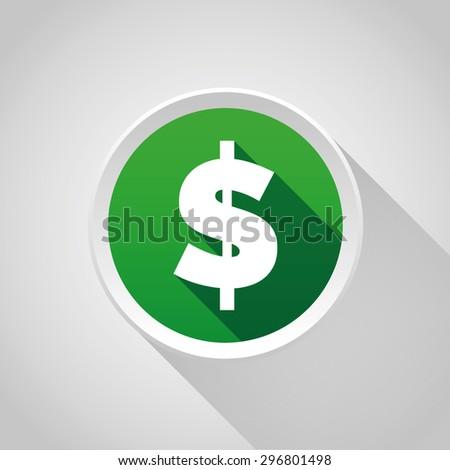 Dollar sign vector button - stock vector