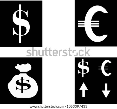 Dollar Symbol Pictogram Dollar Exchange Rate Stock Vector 1053397433