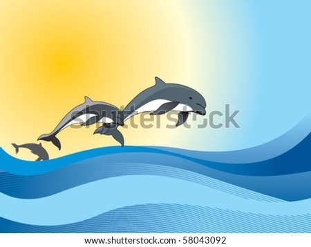 dolphin - stock vector