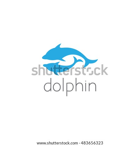dolphin logo graphic design concept. Editable dolphin element, can be used as logotype, icon, template in web and print