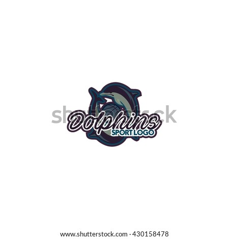 Dolphin sport logo template
