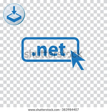 Domain NET icon. Top-level internet domain