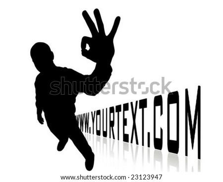 domain site illustration with man silhouette - stock vector