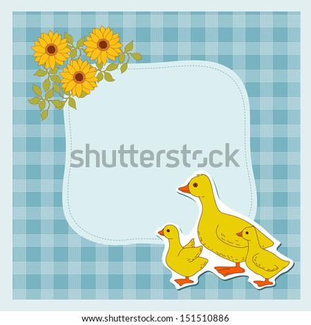 Domestic Duck Frame Stock Photo (Photo, Vector, Illustration ...