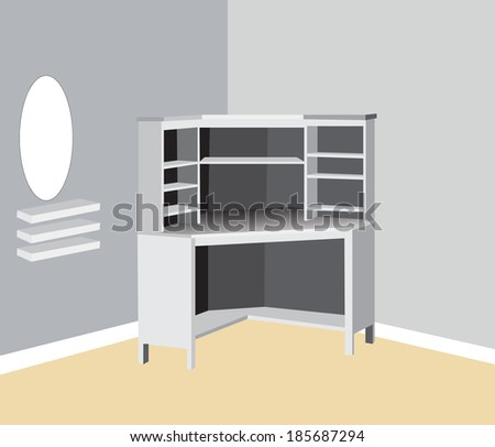 domestic table - stock vector