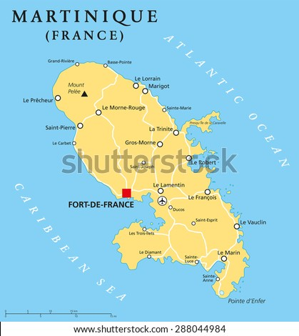 Caribbean Islands Map Stock Images RoyaltyFree Images Vectors - Physical map of dominica
