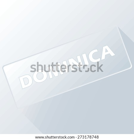 Dominica unique button for any design. Vector illustration
