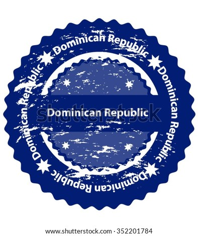 Dominican Republic Country Grunge Stamp - stock vector