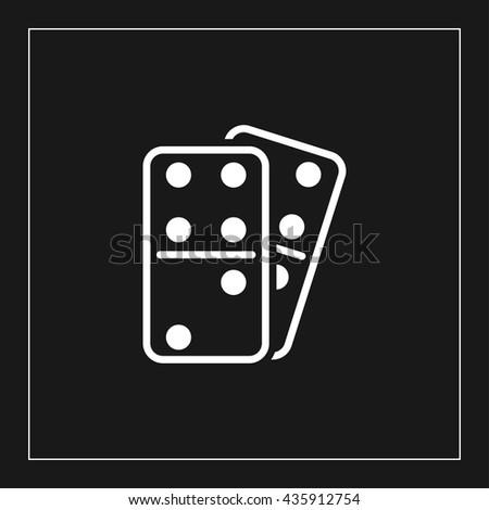 domino icon. domino sign - stock vector