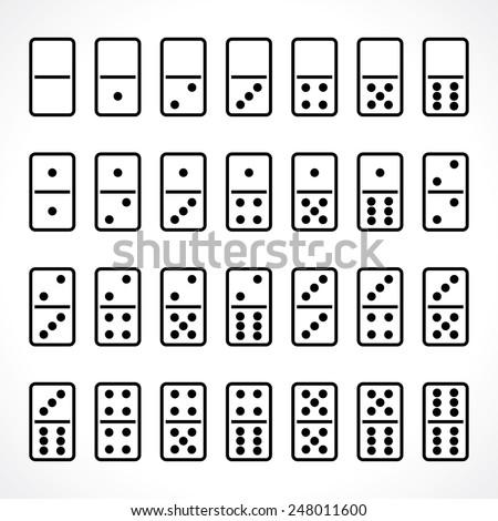 domino. vector set - stock vector