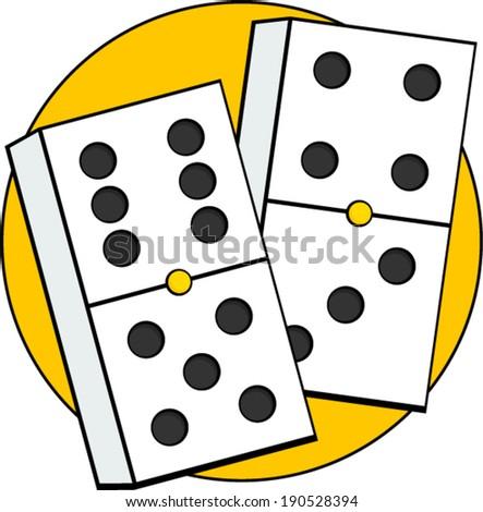dominoes game pieces - stock vector