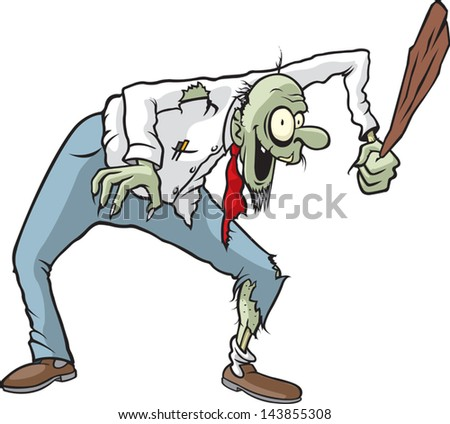 Don of the Dead. A vector cartoon Zombie. - stock vector