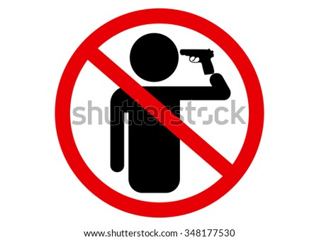Don't commit suicide sign - stock vector
