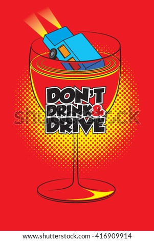 Don't drink and drive concept illustration - stock vector