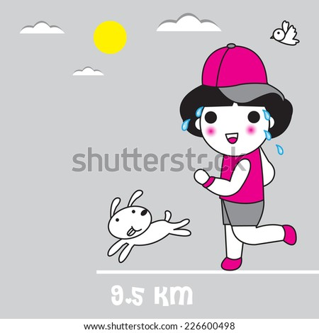 Don't have to go fast, just don't have to stop illustration set - stock vector