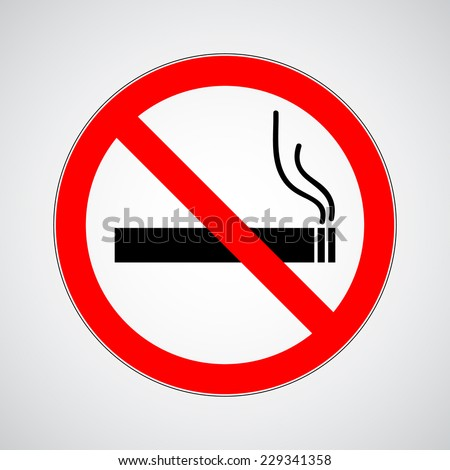 don't smoke sign. vector illustration eps 10