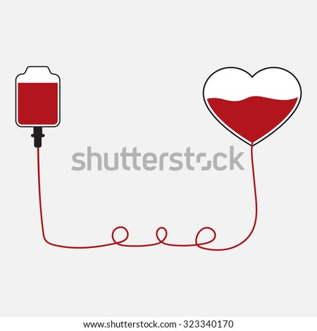 donate blood on background vector - stock vector