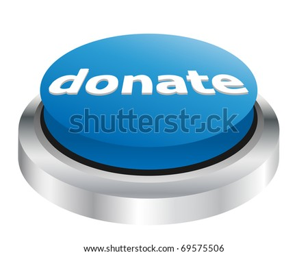 Donate button - stock vector