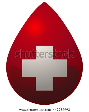 Donate Drop Blood Icon, Vector Illustration.