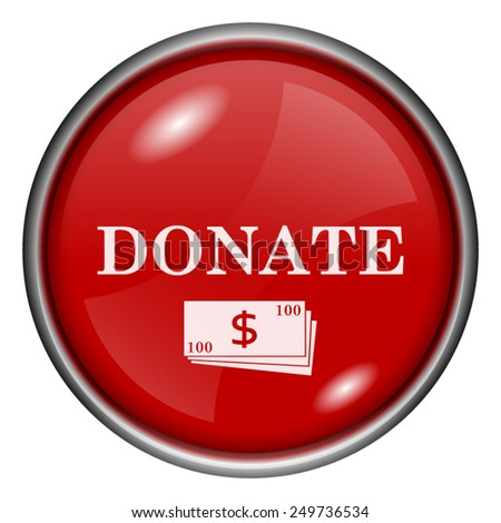 Donate icon. Internet button on white background.  - stock vector