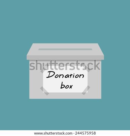 Donate money - Donation box flat style - stock vector