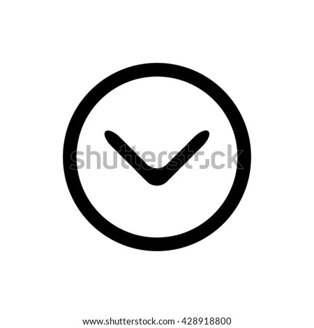 done icon - stock vector