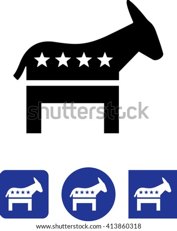 Donkey political symbol.  - stock vector