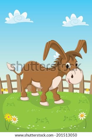 Donkey Vector Illustration - stock vector