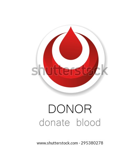 Donor - Donate blood. Medicine Cardiology Donor Healthy concept icon. World blood donor day - 14 June. Blood drop illustration. - stock vector