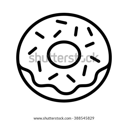 blue and sprinkle coloring pages | Donut Doughnut Frosting Sprinkles Line Art Stock Vector ...