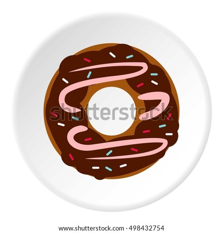 Donut icon. Flat illustration of donut vector icon for web