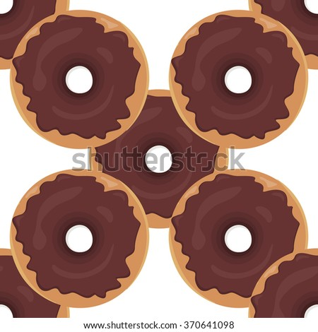 Donut seamless background texture pattern. Cute donuts with glazing. Seamless pattern. Delicious donut glazed. Donut pattern. Vector donuts pattern. Chocolate donuts. Isolated donuts seamless pattern - stock vector
