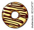 Donut vector illustration. - stock photo