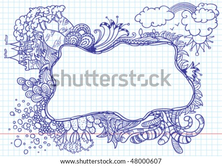 doodle abstract frame