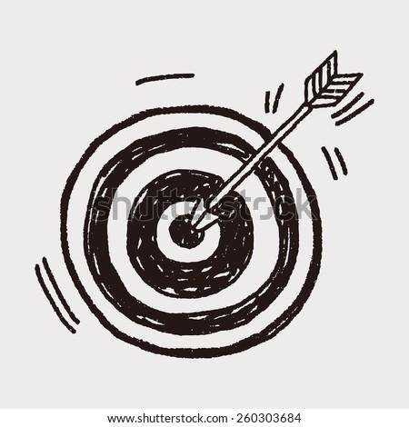 Doodle Archery - stock vector