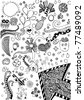 doodle background - stock vector