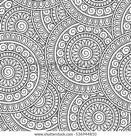 Coloring Book Page For Children And Adults Doodle Background In Vector With Doodles Flowers Paisley Ethnic Pattern Can Be